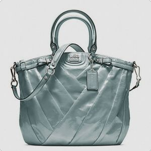 Coach Patent Leather Mint Green Juliette Purse